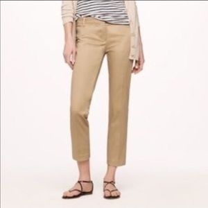J. Crew City Fit Skimmer Tan Pants Size 2